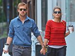 May 10th, 2012.. .. Couple Ryan Gosling and Eva Mendes hold hands after grabbing lunch in New York City, NY, USA. .. .. Non-Exclusive.. UK RIGHTS ONLY.. Pictures by: Flynet © 2012.. Tel: +44 20 7510 9535.. Email: info@flynetpictures.co.uk