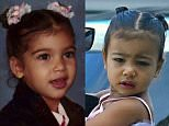 My princess and I at the same age! North is seriously the sweetest, funniest girl I know! ????