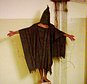 FILE - This late 2003 file image obtained by The Associated Press shows an unidentified detainee standing on a box with a bag on his head and wires attached to him at the Abu Ghraib prison in Baghdad, Iraq. A federal judge ruled Friday, March 20, 2015, that the U.S. must release photographs showing abuse of detainees in Iraq and Afghanistan, following a long-running clash over letting the world see potentially disturbing images of how the military treated prisoners. (AP Photo/File)