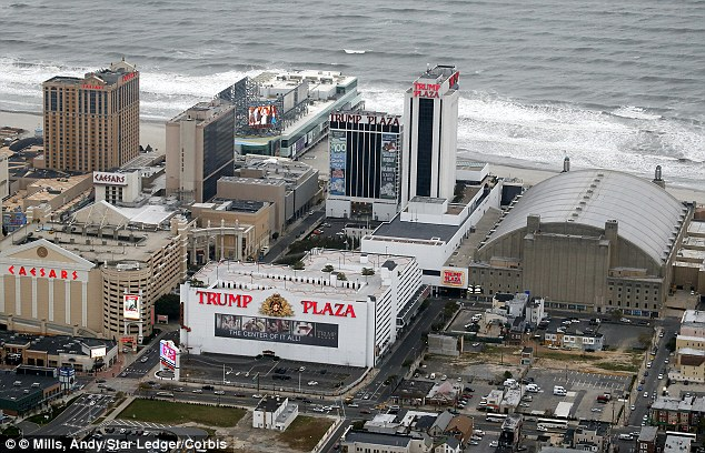 Double down: Trump Plaza made just $73 million from gamblers last year, the smallest amount of any of the 12 casinos in Atlantic City