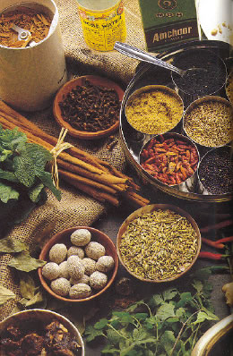 assorted spices: