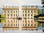 The South facade and Emperor Fountain at Chatsworth House, Derbyshire