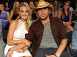 Mandatory Credit: Photo by PictureGroup/REX (3790003e).. Brittany Kerr and Jason Aldean.. 2014 CMT Music Awards, Backstage and Audience, Nashville, America - 04 Jun 2014.. ..
