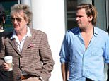 Mandatory Credit: Photo by Buzz Foto/REX (2090105j).. Rod Stewart and son Sean Stewart.. Rod Stewart out and about in Los Angeles, America - 19 Jan 2013.. Rod Stewart meets up with his son Sean Stewart for lunch..