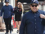 Picture Shows: Jonah Hill  March 22, 2015    'Wolf Of Wall Stree' actor Jonah Hill and his girlfriend out shopping in Hollywood, California. After many years of yo-yo dieting Jonah Hill has been displaying a much fuller figure as of late.     Exclusive - All Round  UK RIGHTS ONLY    Pictures by : FameFlynet UK    2015  Tel : +44 (0)20 3551 5049  Email : info@fameflynet.uk.com