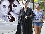 EXCLUSIVE: Kelly Brook heads back home after shopping at Dolce & Gabbana and Victoria Secret with friends in West Hollywood, CA.  Pictured: Kelly Brook Ref: SPL982242  220315   EXCLUSIVE Picture by: Ako/Splash News  Splash News and Pictures Los Angeles: 310-821-2666 New York: 212-619-2666 London: 870-934-2666 photodesk@splashnews.com