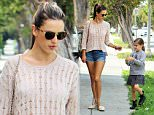 Picture Shows: Alessandra Ambrosio, Anja Mazur  March 22, 2015    Model Alessandra Ambrosio and her daughter Anja out for lunch at the Brentwood Country Mart in Brentwood, California. Alessandra might be excluded from modelling in France as the French government passed a law this week that outlaws modeling agencies employing women with a body mass index below 18.     Non-Exclusive  UK RIGHTS ONLY    Pictures by : FameFlynet UK    2015  Tel : +44 (0)20 3551 5049  Email : info@fameflynet.uk.com