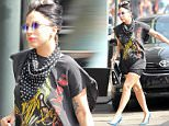 Picture Shows: Lady Gaga  March 21, 2015\n \n Pop star Lady Gaga is seen heading to brunch in New Orleans, Louisiana after attending her childhood best friend's wedding the night before.\n \n Gaga traded in her bridesmaid dress for a more rocker look which included an Iron Maiden t-shirt.\n \n Non Exclusive\n UK RIGHTS ONLY\n \n Pictures by : FameFlynet UK © 2015\n Tel : +44 (0)20 3551 5049\n Email : info@fameflynet.uk.com