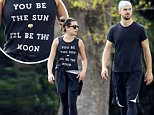 134619, EXCLUSIVE: Lea Michele and boyfriend Matthew Paetz take a walk in the park and later both head for lunch in New Orleans. The Glee star wore a shirt that read, 'You be the Sun, I'll be the Moon.' New Orleans, Louisiana - Monday March 23 2015. Photograph: © PacificCoastNews. Los Angeles Office: +1 310.822.0419 sales@pacificcoastnews.com FEE MUST BE AGREED PRIOR TO USAGE