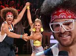 """LOS ANGELES, CA ñ March 23, 2015: Dancing with The Stars\nThe celebrities and their partners perform a variety of dances including the salsa, the rumba, and the Argentine tango.\nNoah Galloway, Robert Herjavec, Patti LaBelle, Nastia Liukin, Riker Lynch, Charlotte McKinney, Redfoo, Michael Sam, Willow Shields, Suzanne Somers Chris Soules, and Rumer Willis, all compete for this season's title. \nU.S. reality show hosted by Tom Bergeron and Erin Andrews; Julianne Hough, Bruno Tonioli, Carrie Ann Inaba, and Len Goodman make up the judges panel, based on the British series """"Strictly Come Dancing,"""" where celebrities partner up with professional dancers and compete against each other in weekly elimination rounds to determine a winner.\nPhotograph:© ABC """"Disclaimer: CM does not claim any Copyright or License in the attached material. Any downloading fees charged by CM are for its services only, and do not, nor are they intended to convey to the user any Copyright or License in the material. B"""