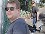 *** FEE OF   150 APPLIES FOR SUBSCRIPTION CLIENTS TO USE THE SET BEFORE 22.00 ON 240315 *** EXCLUSIVE ALLROUNDERJames Corden dressed casually in t-shirt and jeans, goes shopping at The Grove in Hollywood with a friend. Corden has just launched his 'Late Late Show' on CBS Featuring: James Corden Where: Los Angeles, California, United States When: 23 Mar 2015 Credit: WENN.com