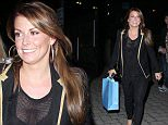 Coleen Rooney, Leanne Brown and Lisa Carrick arrive at The Manchester Arena for the USHER Gig on Monday night......23.3.15.