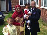 * Husband has asked for pixilation of himself and the wtwo children** Rehana Islam and Family Picture from open Facebook page identified by Emine Sinmaz