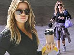 Beverly Hills, CA - Fit and happy Khloe Kardashian left her personal trainer's gym on Tuesday morning, rocking yet another stylish workout ensemble. The reality TV star donned an APL zip up jacket and running shoes paired with Nike leggings and her signature periwinkle blue Givenchy bag.\nAKM-GSI          March 24, 2015\nTo License These Photos, Please Contact :\nSteve Ginsburg\n(310) 505-8447\n(323) 423-9397\nsteve@akmgsi.com\nsales@akmgsi.com\nor\nMaria Buda\n(917) 242-1505\nmbuda@akmgsi.com\nginsburgspalyinc@gmail.com