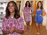 Rochelle Humes models her SS15 collection for very.co.uk, Somerset House, London. 24th March 2015
