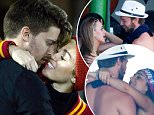 LOS ANGELES, CA - NOVEMBER 13:  Miley Cyrus (R) kisses Patrick Schwarzenegger during the game between the California Golden Bears and the USC Trojans at Los Angeles Memorial Coliseum on November 13, 2014 in Los Angeles, California.  (Photo by Harry How/Getty Images)