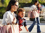 Picture Shows: Jordana Brewster, Julian Form  March 23, 2015    Actress and busy mom Jordana Brewster spotted out grocery shopping with her son Julian Form in Brentwood, California. Julian was all smiles as he checked out the cameras taking his picture.     Non Exclusive  UK RIGHTS ONLY    Pictures by : FameFlynet UK    2015  Tel : +44 (0)20 3551 5049  Email : info@fameflynet.uk.com