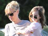 Kimberly Stewart and Delilah go shopping at Whole Foods for groceries March 23, 2015 X17online.com