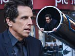 """NEW YORK, NY - MARCH 23:  Actor Ben Stiller rehearses being shot out of a cannon at """"Late Show With David Letterman"""" at Ed Sullivan Theater on March 23, 2015 in New York City.  (Photo by Ray Tamarra/WireImage)"""