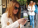 24.MARCH.2015 - UK - LONDON\n*** EXCLUSIVE ALL ROUND PICTURES ***\nLINDSAY LOHAN DINES OUT AT SCOTT'S IN MAYFAIR, LONDON FOR LUNCH WITH A MALE FRIEND.\nBYLINE MUST READ : XPOSUREPHOTOS.COM\n***UK CLIENTS - PICTURES CONTAINING CHILDREN PLEASE PIXELATE FACE PRIOR TO PUBLICATION ***\n**UK CLIENTS MUST CALL PRIOR TO TV OR ONLINE USAGE PLEASE TELEPHONE  442083442007