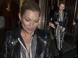 25 March 2015. Model Kate Moss seen leaving the Cafe Royal Hotel in London this evening.  Credit: Ben/Jesal/GoffPhotos.com   Ref: KGC-102/189