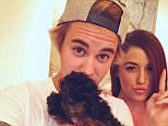 Justin Bieber was spotted leaving lunch in Beverly Hills while carrying his new puppy Esther. He was spotted by a pair of fans who took selfies with the pop star. He was sure to include his puppy in the selfie fun.  Pictured: Justin Bieber Ref: SPL982747  240315   Picture by: 247PAPS.TV / Splash News  Splash News and Pictures Los Angeles: 310-821-2666 New York: 212-619-2666 London: 870-934-2666 photodesk@splashnews.com