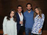 24/03/2015 Cinderella Gala Screening at The Mayfair Hotel Louise Thompson and Alik Alfus with Spencer Matthews and Lauren Frazer-Hutton