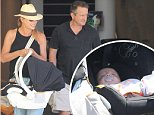 The Voice Host Sonia Kruger and Craig McPherson with their newborn baby Maggie \nvisiting a relative in a nursing home in West Pennant Hills over the weekend.