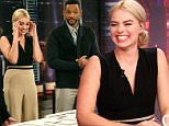 """Will Smith and Margot Robbie appear on Spanish TV show """"El Hormiguero"""".\n\nPictured: Will Smith , Margot Robbie\nRef: SPL980709  240315  \nPicture by: MI / Splash News\n\nSplash News and Pictures\nLos Angeles: 310-821-2666\nNew York: 212-619-2666\nLondon: 870-934-2666\nphotodesk@splashnews.com\n"""