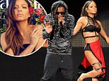 """UK CLIENTS MUST CREDIT: AKM-GSI ONLY..Los Angeles, CA - Christina Milian and Lil Wayne perform """"Start A Fire"""" at the 2014 American Music Awards in Los Angeles.....Pictured: Christina Milian and Lil Wayne..Ref: SPL897943  231114  ..Picture by: AKM-GSI / Splash News...."""