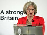 Home Secretary Theresa May delivers a speech about tackling extremism, at the RCIS, central London. PRESS ASSOCIATION Photo. Picture date: Monday March 23, 2015. See PA story POLITICS Extremism. Photo credit should read: Jonathan Brady/PA Wire