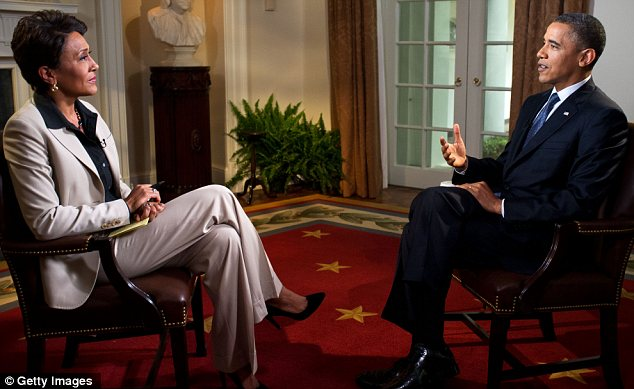 Historic: President Obama made his announcement in a taped interview with Good Morning America's Robin Roberts on Wednesday