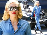 Gwen Stefani downplays her flashy style in denim jumpsuit while out in Beverly Hills