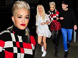 Picture Shows: Rita Ora  March 25, 2015\n \n Rita Ora seen arriving arm-in-arm with friends at the Charli XCX gig, held at the O2 Shepherds Bush Empire in London. Rita looked bright and bold in a color block top, red leopard print mini skirt, and sparkling black heels. \n \n Non-Exclusive\n WORLDWIDE RIGHTS\n \n Pictures by : FameFlynet UK © 2015\n Tel : +44 (0)20 3551 5049\n Email : info@fameflynet.uk.com