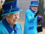 FOLKESTONE, ENGLAND - MARCH 26:  Queen Elizabeth II smiles at schoolchildren as she leaves the National Memorial to the Few after opening a new wing on March 26, 2015 in Folkestone, England.  (Photo by Chris Jackson - WPA Pool/Getty Images)