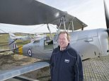 FINANCIAL FEATURE. BARRY HUGHES, INSTRUCTOR AT CLASSIC WINGS, FLYING SCHOOL BASED AT DUXFORD AERODROME. CAMBS. 12-3-2015 PIC BY IAN MCILGORM