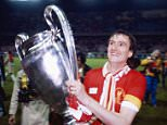 PARIS, FRANCE - MAY 27:  Liverpool captain Phil Thompson parades the trophy after their 1-0 victory over Real Madrid to win the 1981 European Cup Final at the Parc de Princes in Paris, France on May 27, 1981.  (Photo by Allsport/Getty Images)