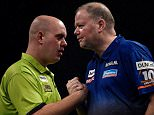 ©Russell Pritchard  26th March 2015\nBetway Premier League Darts, Night Eight at the 3 Arena, Dublin, Ireland.\nMichael Van Gerwin v Raymond van Barneveld\n©Russell Pritchard / PDC Darts