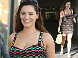 Picture Shows: Kelly Brook  March 25, 2015    British model and actress Kelly Brook spotted out shopping in Beverly Hills, California.     Kelly seems to be in good spirits despite her show 'One Big Happy' recently being crushed by the critics.     Exclusive - All Round  UK RIGHTS ONLY    Pictures by : FameFlynet UK    2015  Tel : +44 (0)20 3551 5049  Email : info@fameflynet.uk.com