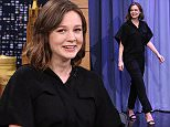 THE TONIGHT SHOW STARRING JIMMY FALLON -- Episode 0233 -- Pictured: Actress Carey Mulligan arrives on March 26, 2015 -- (Photo by: Douglas Gorenstein/NBC/NBCU Photo Bank via Getty Images)