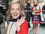 Mandatory Credit: Photo by Buzz Foto/REX (4588233a)  Elisabeth Moss  'The View' TV show, New York, America - 26 Mar 2015