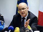 """French prosecutor of Marseille Brice Robin, speaks to the press on March 26, 2015 in Marignane airport near the French southern city of Marseille.  The co-pilot """"voluntarily"""" initiated the descent of the Germanwings flight that crashed into the French Alps and refused to open the door to the pilot who was outside the cockpit, the lead investigator said today.  AFP PHOTO / FRANCK PENNANTFRANCK PENNANT/AFP/Getty Images"""