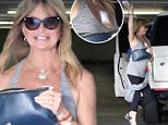 Mandatory Credit: Photo by Most Wanted/REX (4588232n)\n Goldie Hawn\n Goldie Hawn out and about, Los Angeles, America - 26 Mar 2015\n Goldie Hawn seen with a white bandage on her decollete after leaving a doctor's office in Brentwood\n