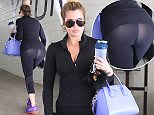 Khloe Kardashian continues to slim down as she hits the gym once again in Beverly Hills, She leaves the gym to spend 5 HRS at the hairdressers to go a few shades blonder,,,,March 25, 2015 X17online.com\nOK FOR WEB SITE USAGE AT 20PP\nMAGAZINES NORMAL FEES\nAny queries call X17 UK Office /0034 966 713 949/926 \nAlasdair 0034 630576519 \nGary 0034 686421720\nLynne 0034 611100011