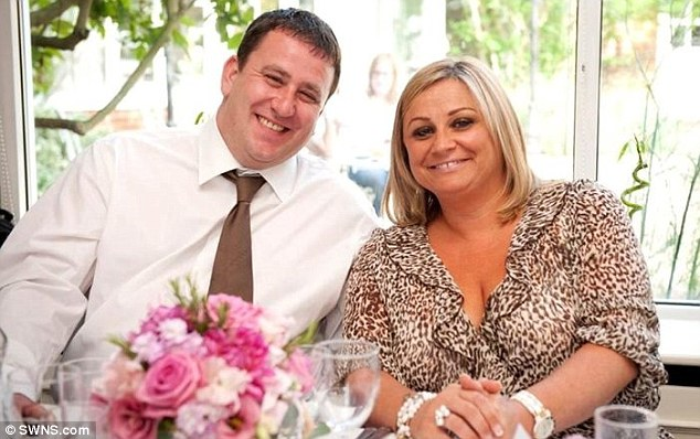 This photograph show Ms Adams with her partner, Matthew Shaw, at a friend's wedding before the accident
