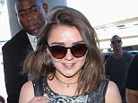 26.MARCH.2015 - LOS ANGELES - USA THE GAME OF THRONES ACTRESS MAISIE WILLIAMS IS ALL SMILES AS SHE ARRIVES AT LOS ANGELES INTERNATIONAL AIRPORT. MAISIE WAS WEARING SUNGLASSES, CAMOUFLAGE SHORTS, A TANK TOP AND HOLDING A LEATHER HANDBAG. BYLINE MUST READ : XPOSUREPHOTOS.COM *AVAILABLE FOR UK SALE ONLY* ***UK CLIENTS - PICTURES CONTAINING CHILDREN PLEASE PIXELATE FACE PRIOR TO PUBLICATION *** *UK CLIENTS MUST CALL PRIOR TO TV OR ONLINE USAGE PLEASE TELEPHONE 0208 344 2007*