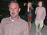 David Arquette and his girlfriend Christina McLarty arriving for dinner at the Nice Guy in Los Angeles.  Pictured: David Arquette and Christina McLarty Ref: SPL980658  260315   Picture by: Styles / Ajax / Splash News  Splash News and Pictures Los Angeles: 310-821-2666 New York: 212-619-2666 London: 870-934-2666 photodesk@splashnews.com