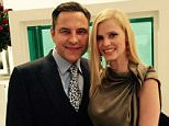 David Walliams and Lara Stone at Elton Johns Wedding 21st December 2014 Probably their last published picture together. Source Twitter