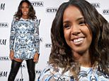 "NEW YORK, NY - MARCH 20:  Kelly Rowland visits ""Extra"" at their New York studios at H&M in Times Square on March 20, 2015 in New York City.  (Photo by D Dipasupil/Getty Images for Extra)"