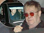 UK CLIENTS MUST CREDIT: AKM-GSI ONLY EXCLUSIVE: Sir Elton John celebrated his 68th birthday with his husband David Furnish and others at Mr. Chow in Beverly Hills.  The legendary singer opted for privacy as he left the celebrity hotspot through the private exit.  Pictured: Elton John Ref: SPL984796  250315   EXCLUSIVE Picture by: AKM-GSI / Splash News